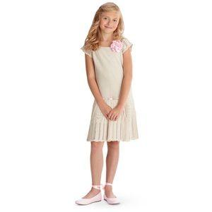 American Girl Sweet Spring Crochet Dress Beige